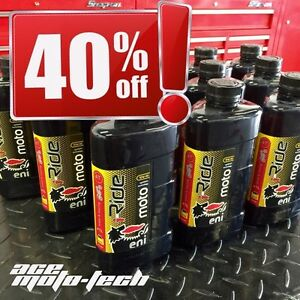 █ 40% OFF █ Agip eni i-Ride 10W40 FULL SYNTHETIC Motorcycle Oil