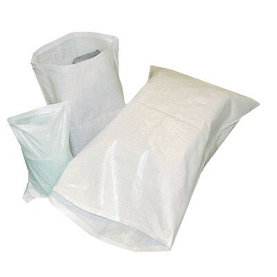 15 WOVEN POLYPROPYLENE BUILDER RUBBLE SACKS BAGS 20x30