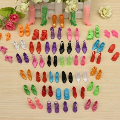 40 Pairs of Fashion Assorted Multiple Styles High Heel Shoes F/ Barbie Doll Gift
