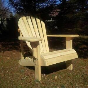 Handmade Mennonite Muskoka Chairs.