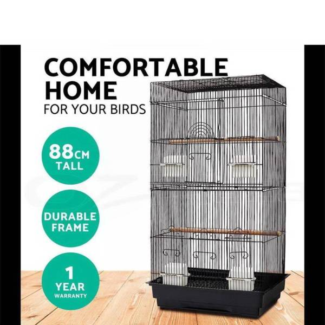 Pet Bird Cage Parrot Pet Carrier Portable Canary Budgie Finch