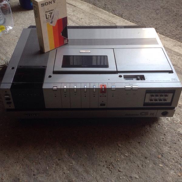 Sony Recording Sony c5 Betamax Video Recorder