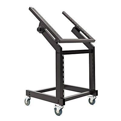 19'' 12U + 10U Adjustable Studio Rack Trolley by Gear4music