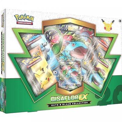 Pokemon Karten TCG Rote & Blaue Kollektion Bisaflor EX Box - DEUTSCH - NEU & OVP