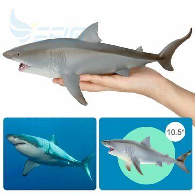 Megalodon Great White Shark Toy Model Ocean Education Animal Figure Kids Gift