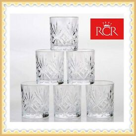 Melodia Set of 6 Lead Free Crystal Tumblers
