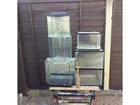 6 all glass aquarium vivarium fish tanks