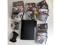 PlayStation 3, 16 games, 2 controllers