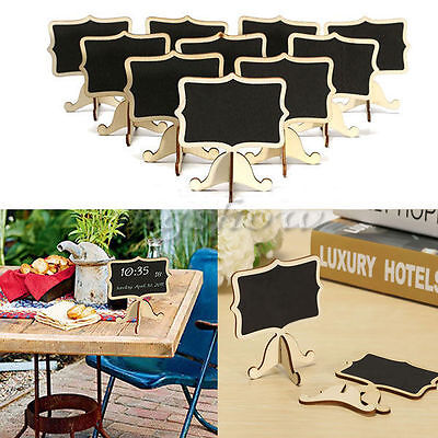 10Pcs Mini Wooden Chalkboard Blackboard Message Table Number Wedding Part Fh