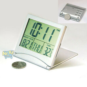 home digital lcd screen travel alarm clocks desk thermometer timer calendar new ebay. Black Bedroom Furniture Sets. Home Design Ideas