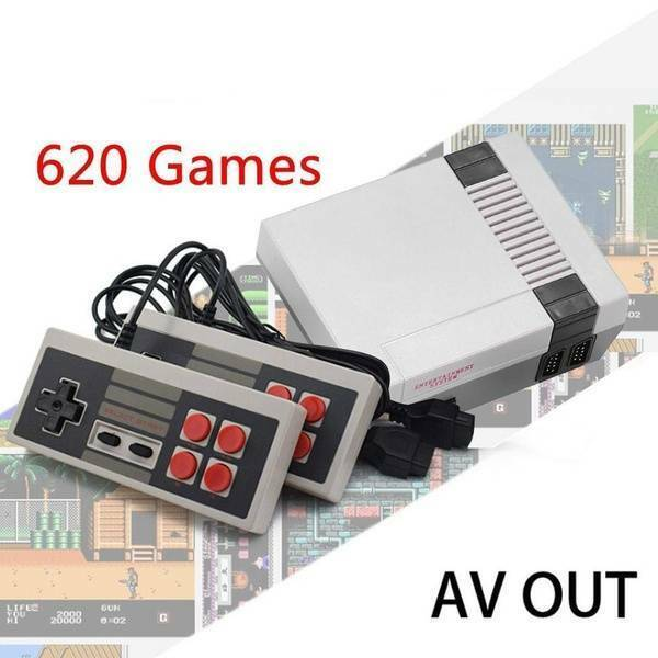 Mini Retro TV Gaming Console 620 Games Built in w/2 Controller RCA or HDMI New