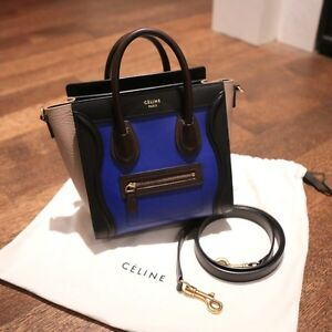 Celine nano luggage shoulder bag