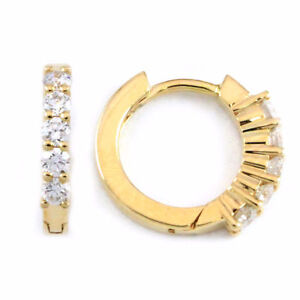 14k Yellow Gold Round Diamond Earrings (0.25 tdw) #3332