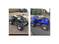 2 x 100cc quads for sale together.. quadzilla 100cc and a blazer 100cc