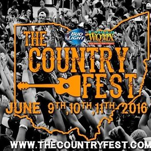 2 DAUPHIN COUNTRY FEST TICKETS