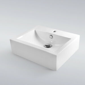 Bathroom Vanity Vessel Sink Combo : ... Bathroom-Porcelain-Ceramic-Vessel-Vanity-Sink-Basin-Pop-Up-Drain-Combo