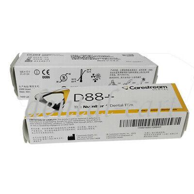 200pcs Kodak D88 Dental Intra Oral X-ray Film 30 X 40 Carestream Film Size 2