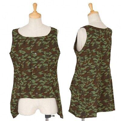 (SALE) YohjiYamamotoFEMME camouflage sleeveless tops Size 2(K-18371)