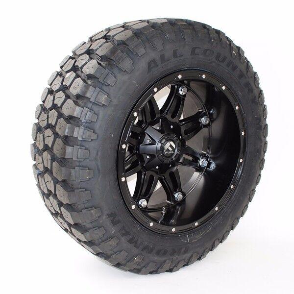 "20"" Fuel Hostage 33x12.50r20 Ironman Mt Tires 20x12 33"" Silverado F150 Jeep Ram"