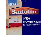 🔥BEST VARNISH🔥 Sadolin PV67 Heavy Duty Varnish - Satin - 4 liters RRP £105 🔥