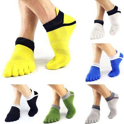 6 Pairs Mens Sports Half Toe Yoga Ankle Grip Socks 5-Toe Socks New