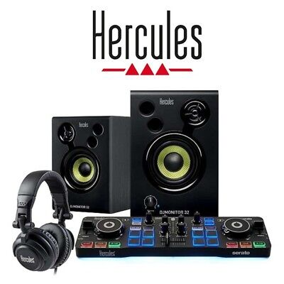 Hercules DJ Starter Kit Package inc USB Serato Controller, Speakers & Headphones