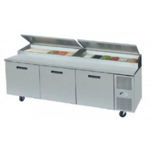 3 door stainless steel cold table