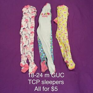 Baby girl sleepers - 18-24 months