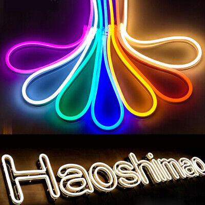 5M 2835 600LED Neon Tube Flexible LED Sign Light Strip 12V Rope Wire Waterproof (600 Led Light)