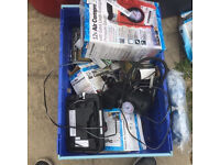 Large Joblot of 65+ batt chargers, 15+ compressors+ 3 boxes of misc