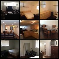 FULLY FURNISHED 2 BDRM SUITE WITH PARKING