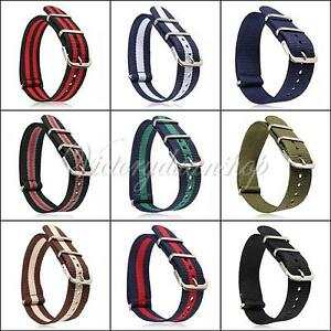 New-Watch-Strap-Band-Military-Army-Nylon-Stainless-Steel-Buckle-Men-Women-Repair
