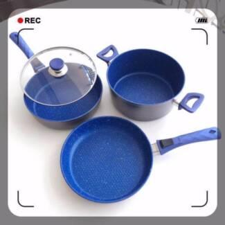 NON STICK Pan Top Stone Cookware Good True Flavour 24CM/4PCS Set