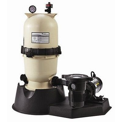Pentair Clean and Clear Aboveground Cartridge Pool and Spa Filter System- 1 HP