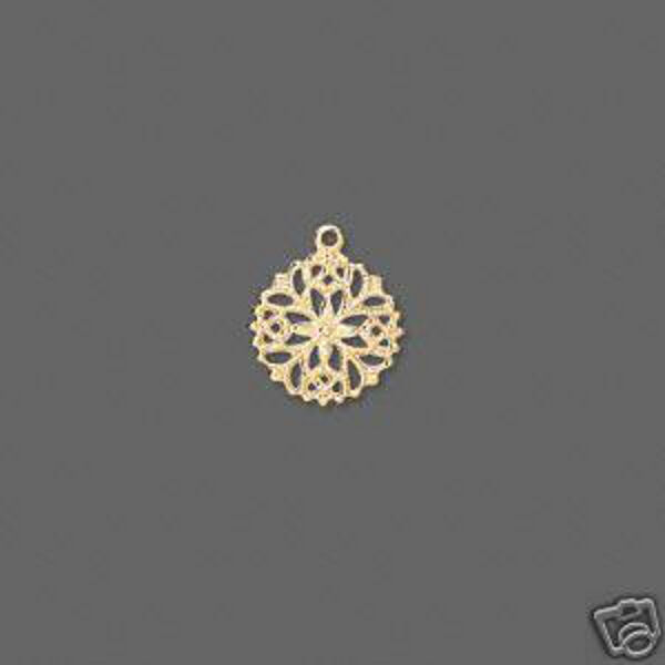 Snowflake Charm 13mm  Lightweight Gold Jewelry Lot of 30