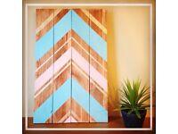 Reclaimed pallet wood wall-art