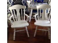2 shabby chic chairs