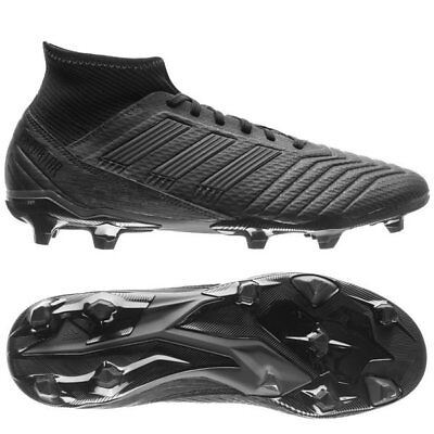 adidas Predator 18.3 FG 2018 Soccer Cleats Shoes Blackout Pure Black  Kids Youth