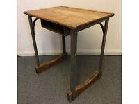 Industrial Coffee Table/ Vintage School Desk