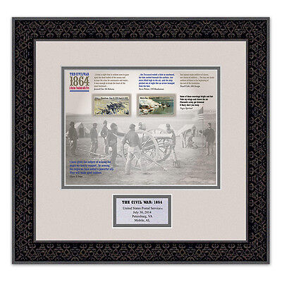 USPS New The Civil War: 1864 Stamps Framed Art