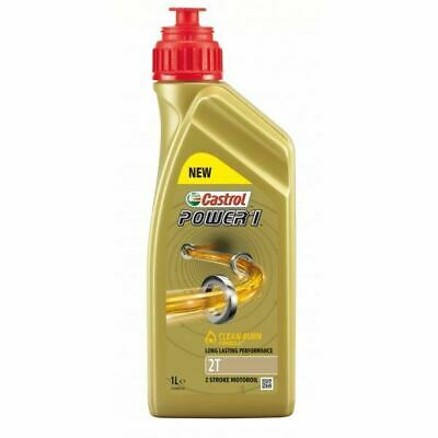 Car Parts - NEW CASTROL MOTORCYCLE OIL POWER 1 2T 2 STROKE SEMI SYNTHETIC 1 LITRE 15B64C