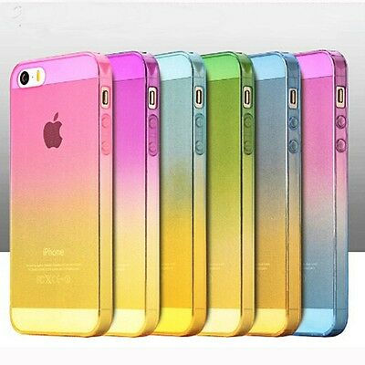 Ultra Thin Ombre Silicone Gel Rubber Clear Case Cover Skin For Various Phones