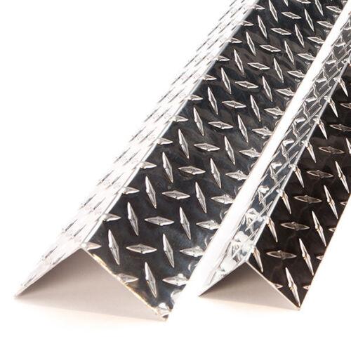 "Outside Corner  2"" x 2""  x 48"" Long Aluminum Diamond Plate x 16 Ga( 0.063)"