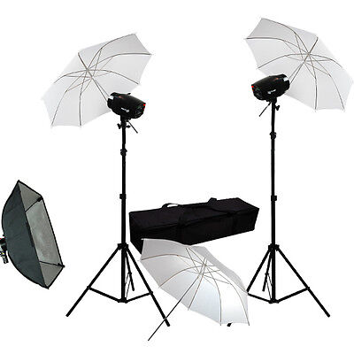 "Flash Light Photo Studio Photography Lighting 3x 33"" Umbrella Softbox Strobe Kit on Rummage"