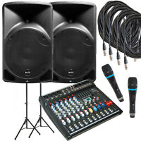 Ensemble de sonorisation ALTO Tx12 de 1200 watts