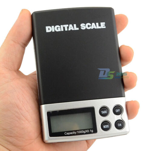 Digital Scale 1000g x 0.1g Jewelry Gold Silver Coin Gram Pocket Balance Weight