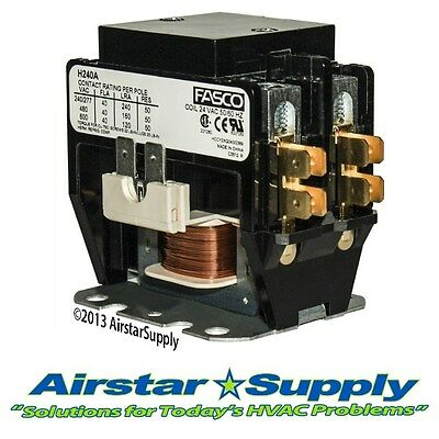 Pole 40 Amp (2 Pole • 40 Amp • 24V Coil - Trane Universal Replacement Contactor)