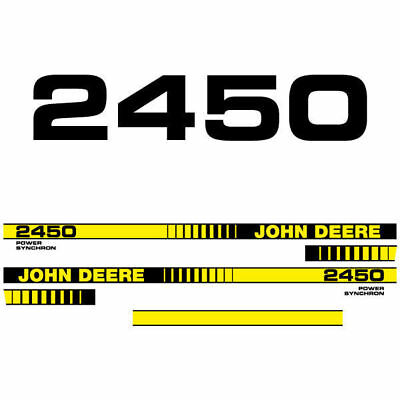 John Deere 2450 Tractor Decal Aufkleber Adesivo Sticker Set