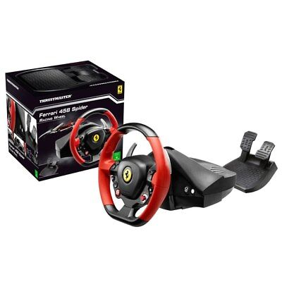 Thrustmaster Ferrari 458 Spider Racing Steering Wheel and Pedals set Xbox one