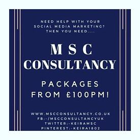 Get your social media managed for £100pm!
